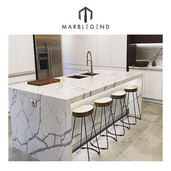 Prefab Custom Design Modern Kitchen Decor White Calacatta ... on Modern Kitchen Countertop Decor  id=87813