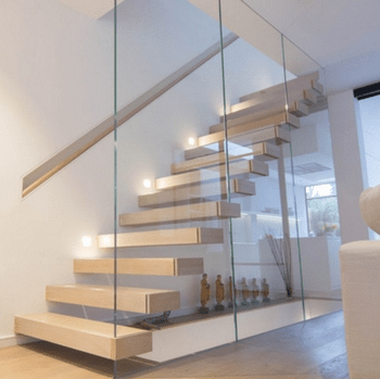 New Design Modern Glass Floating Stairs Staircase With Led Lights   Diy Glass Stair Railing   Cable Railing   Modern Stair Parts   Floating Staircase   Railing Ideas   Wood