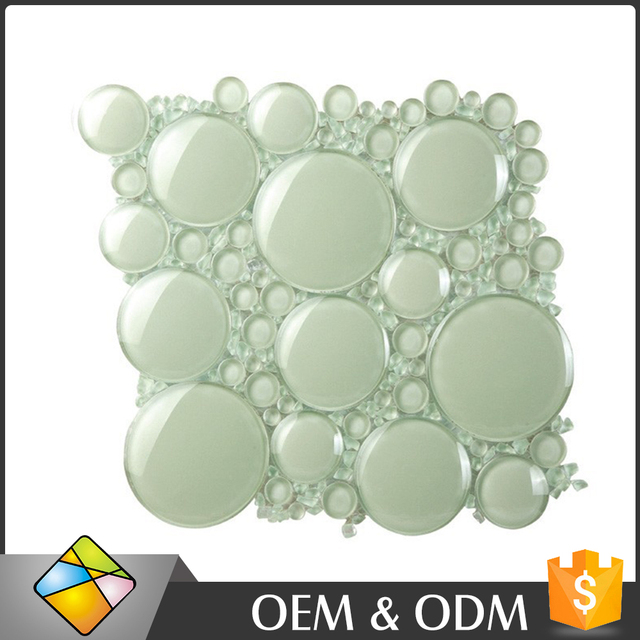china foshan supplier wholesale 6mm thickness round bubble glass backsplash 3d mosaic tiles buy glass mosaic tiles round glass mosaic tiles 3d