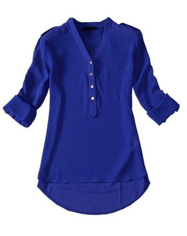 Navy Blue Womens Shirt Custom Shirt