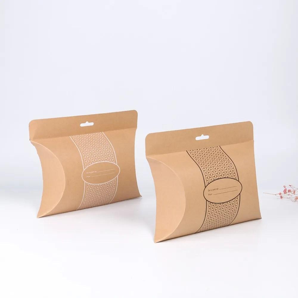 custom logo long shirt printing black window large kraft gift paper packaging pillow box with handle buy pillow boxround tube gift box pillow box