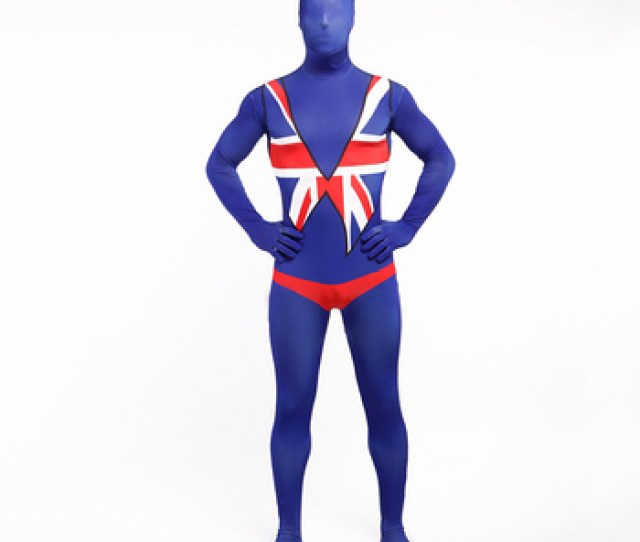 Fashioned The New Design Blue Zentai Sexy Lycra Spandex Catsuit