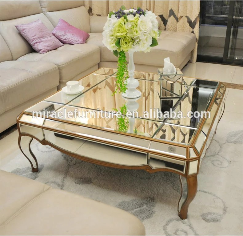 living room mirrored square champagne gold coffee table with factory price buy glass coffee tables living room low height coffee table cheap square