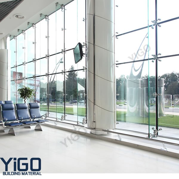 Structural Frameless Glass Curtain Wall With Iso Ce