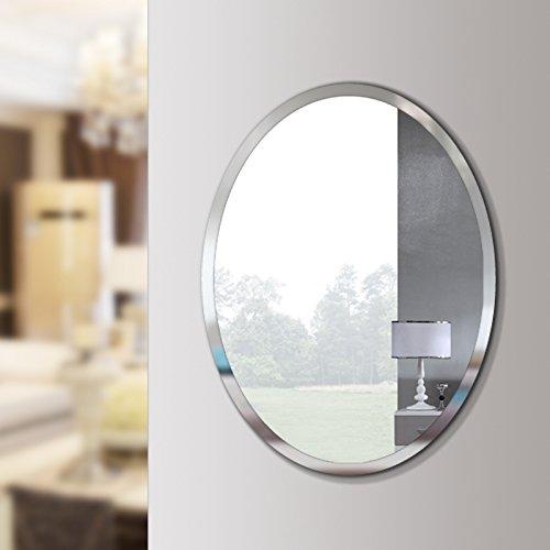 ovale biseaute poli miroir mural sans cadre pour salle de bain vanite chambre 20 w x 28 h ovale buy grand miroir mural sans cadre biseaute ovale simple avec un miroir mural sans