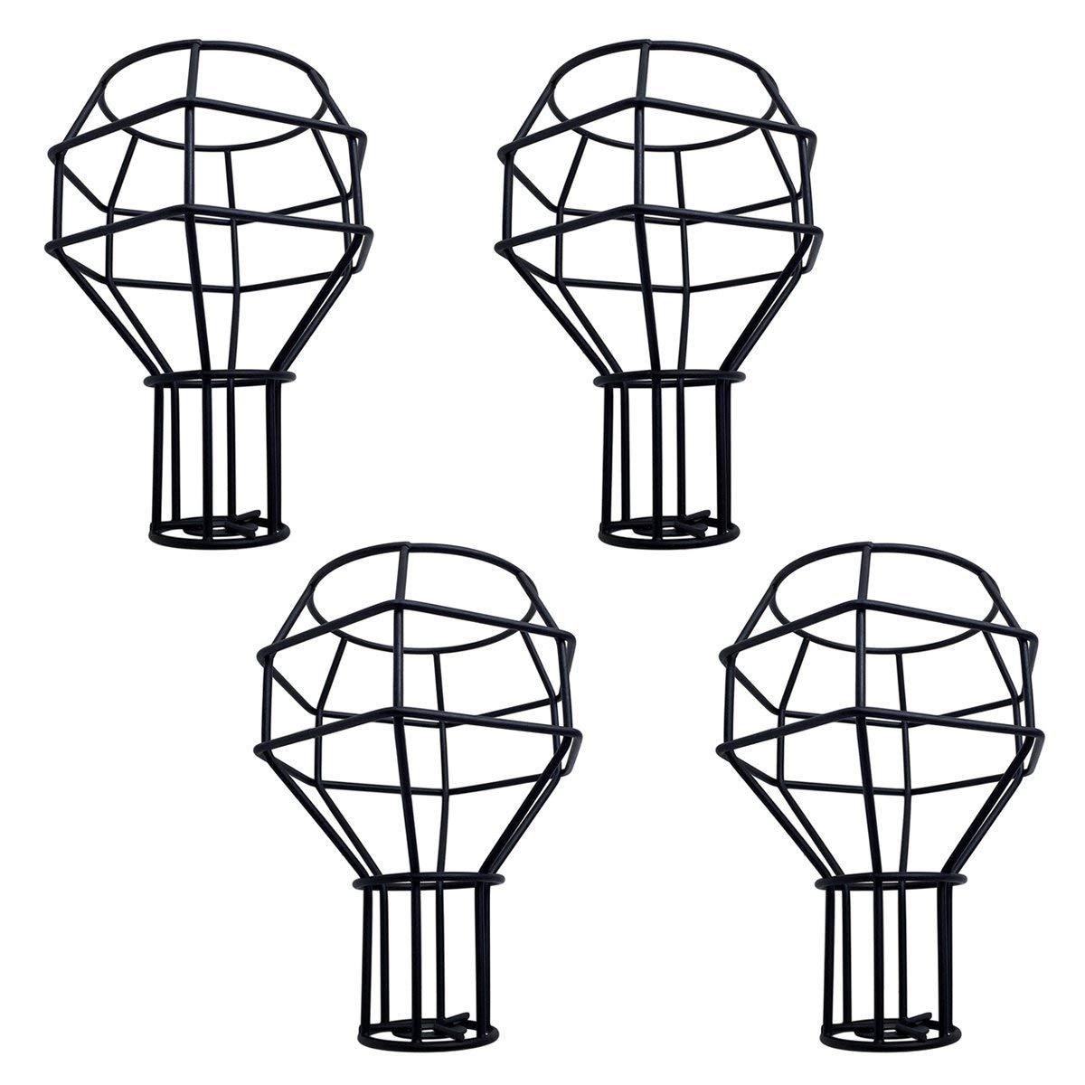 Buy Metal Cage Lamp Holder Motent 4pcs Vintage Industrial
