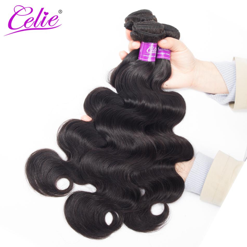 HTB1qAbRbWLN8KJjSZFKq6z7NVXa6 Celie Hair Body Wave Bundles With Closure Brazilian Hair Weave 3 Bundles With Lace Closure Remy Human Hair Bundles With Closure
