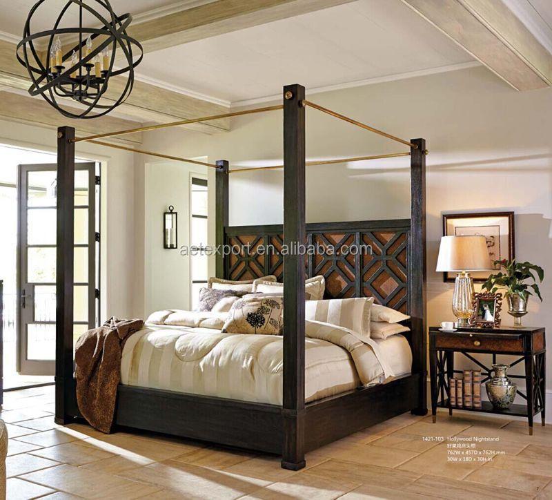 Style Amricain Design Moderne Lit En Bois Massif Lit