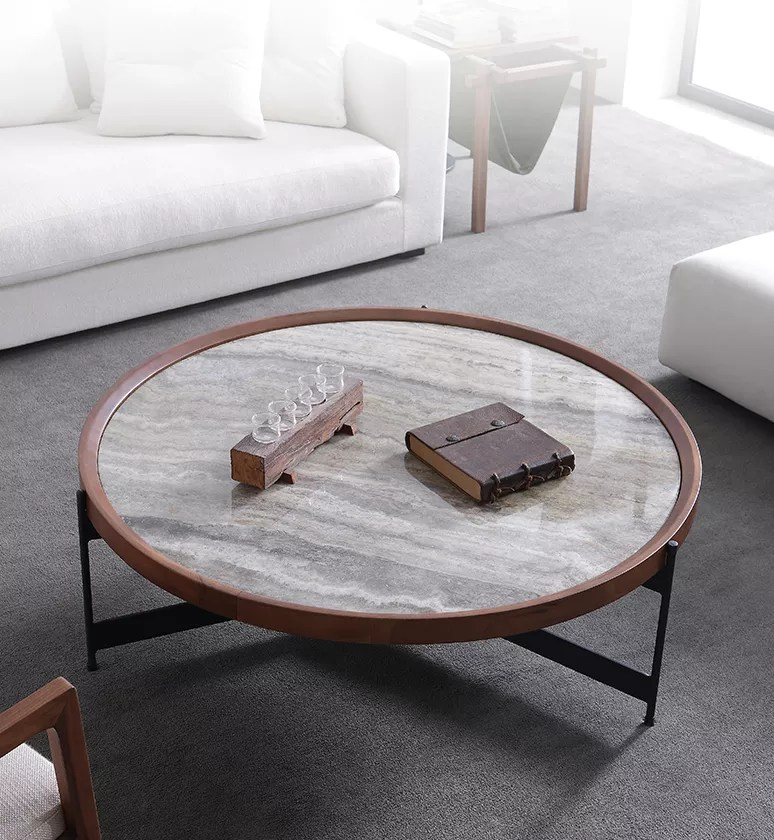 italian luxury design living room furniture marble round solid wood coffee table with metal legs buy italian marble luxury coffee table for home