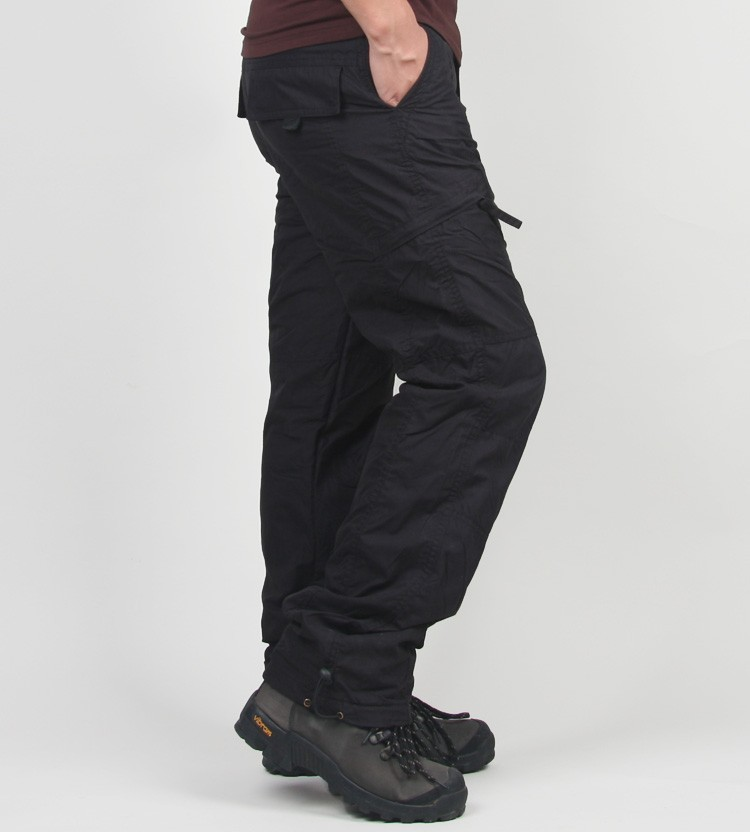 Men's Cargo Pants 2019 Winter Casual Warm Thicken Fleece Pants Men Cotton Multi Pockets Combat Military Baggy Tactical Pants 41