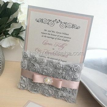 Rosette Lace Wedding Invitation