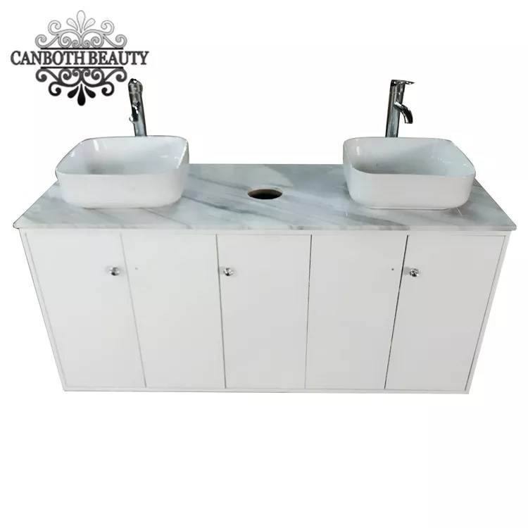double sink cabinet with natrual marble top for nail salon cb cf005 buy double sink cabinet nail salon sink cabinet bathroom sink cabinet product on