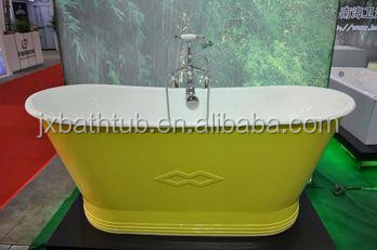 European Style Popular Colorful Skirted Cast Iron Bath Tub