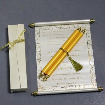 2017 New Design Luxury Elegant Scroll Wedding Invitations