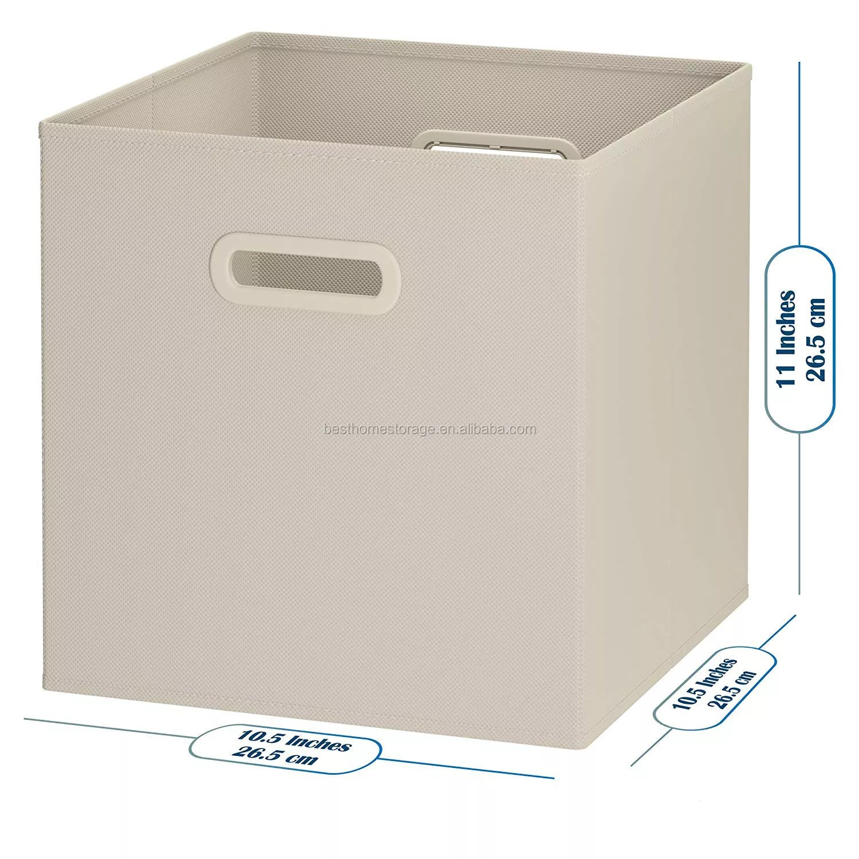 Nonwoven Storage Cubes Set Of 8 Storage Baskets Dual Handles Cube Storage Bins Foldable Fabric Closet Shelf Organizer Buy Storage Baskets Dual