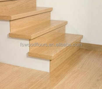 Natural Prefinished White Oak Wood Stair Tread Buy Wood Stair | White And Wood Stairs | Non Slip | Foyer | Simple | Solid Wood | Indoor