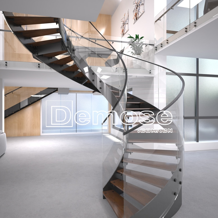 Stainless Steel Glass Curved Round Staircase Design Buy Glass | Staircase Designs With Steel And Glass | Affordable | Outdoor | Railing | Spiral | Staircase Design Modern House