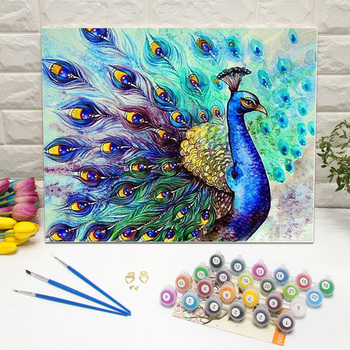 Paint By Numbers With Frames Beautiful Peacock Buy Paint By Numbers With Frames Diy Oil Painting Beautiful Peacock Oil Painting Product On Alibaba Com