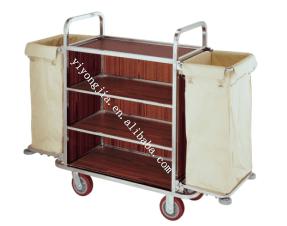 Multi Purpose Hotel Housekeeping Maid Cart Trolley Steel