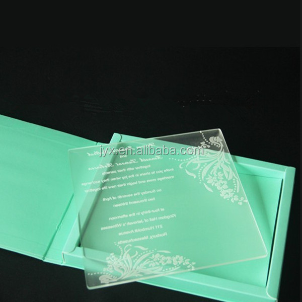 Neon Acrylic Laser Engraved Business Cards