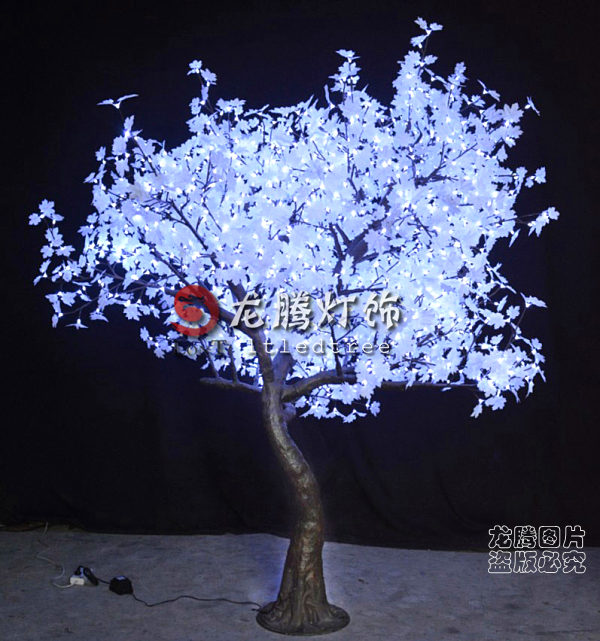 lumineuses exterieures blanches arbre