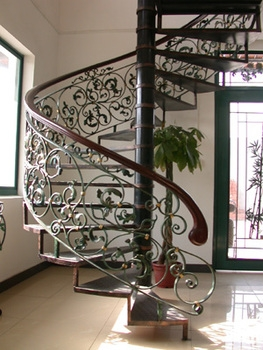Powder Coated Wrought Iron Spiral Staircase Indoor Buy Wrought | Wrought Iron Spiral Staircase | Wood | Gothic | Small | Mezzanine | Internal
