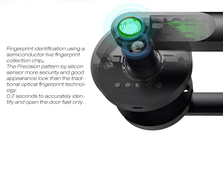 MOK Biometric Wifi Electronics coded fingerprint smart doorlock