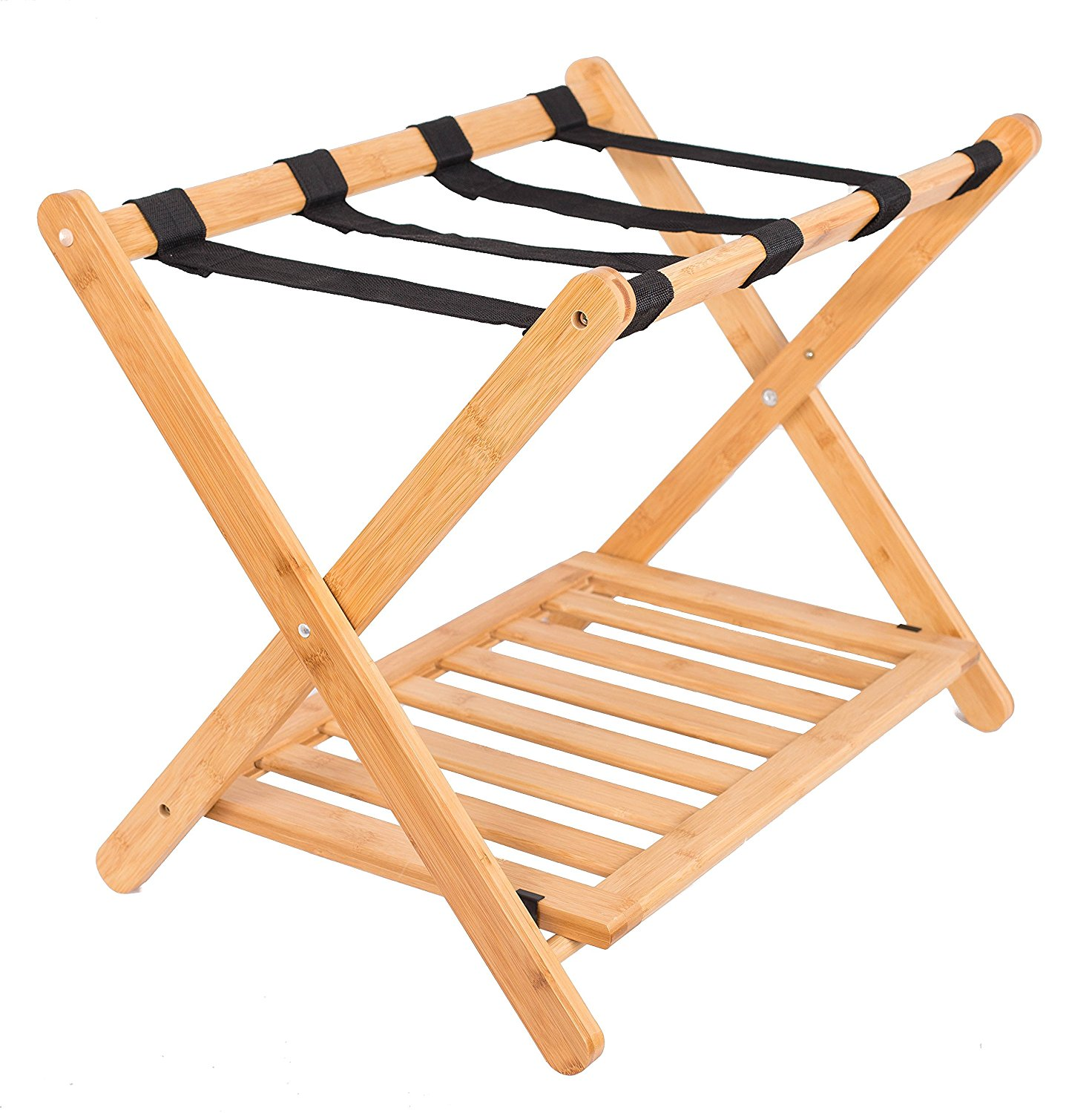 bamboo folding luggage rack with shoe shelf bedroom guest room suitcase home organization hotel luggage rack buy luggage rack hotel luggage