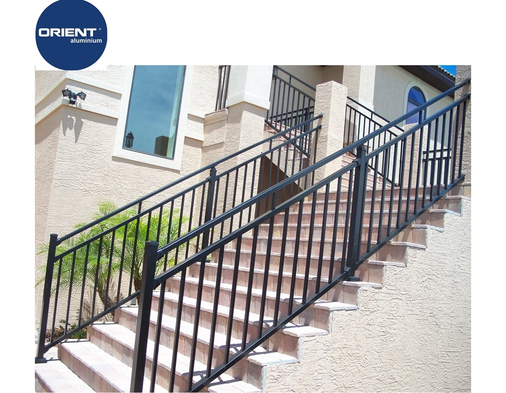 Aluminium Stair Handrail Deck Powder Coating Railings Lowes | Powder Coated Handrails For Stairs | Ornamental Iron | Metal | Deck Railing | Wrought Iron Balusters | Balcony