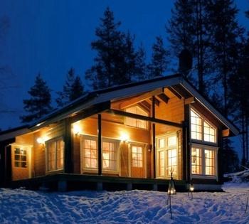 Cozy 2 Bedroom Log Cabin Kits For Living