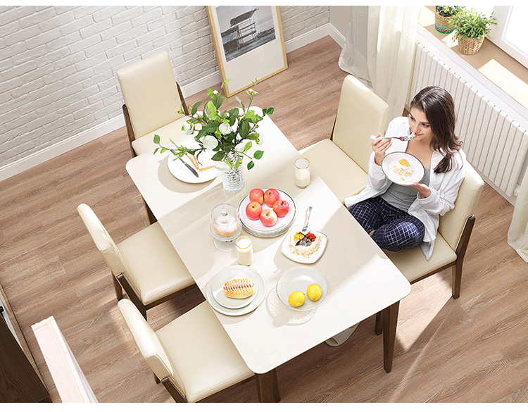 High Quality Hot Sell Luxury Wood Types Dining Table Set Designs For Home