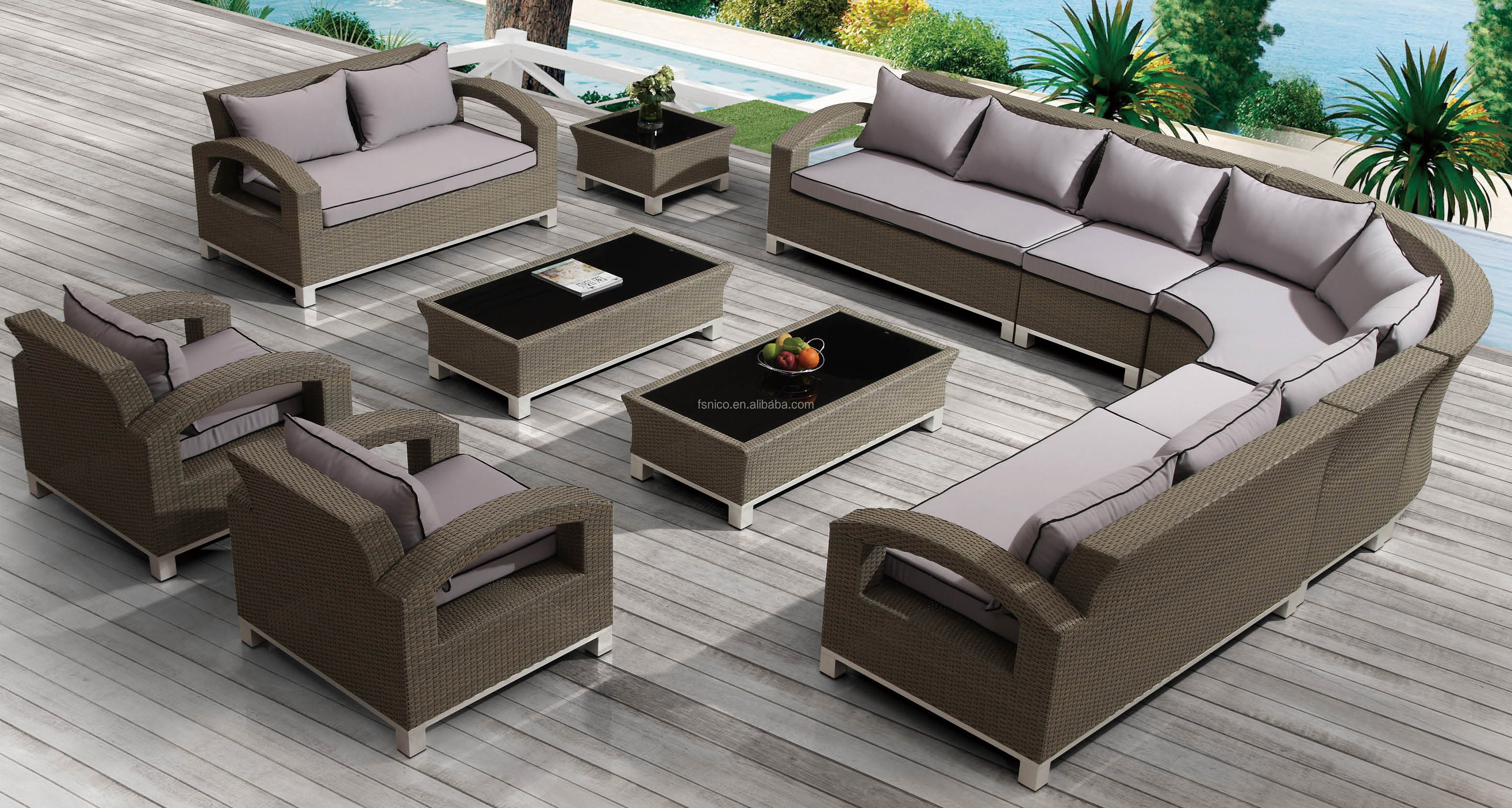 lowes modern patio broyhill outdoor furniture extra large garden set rattan sofa view lowes patio furniture nico art rattan product details from