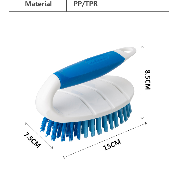 K19020 Kleaner  Household Plastic Durable Cleaning Scrub Brush Laundry Clothes Washing Brush with TPR grip