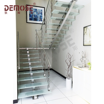 Glass Stair Treads Stainless Steel Stairs For Small Space Buy   Steel Steps For Stairs   Chequer Plate   Fabricated   Wire Mesh   Prefabricated   Corrugated Metal