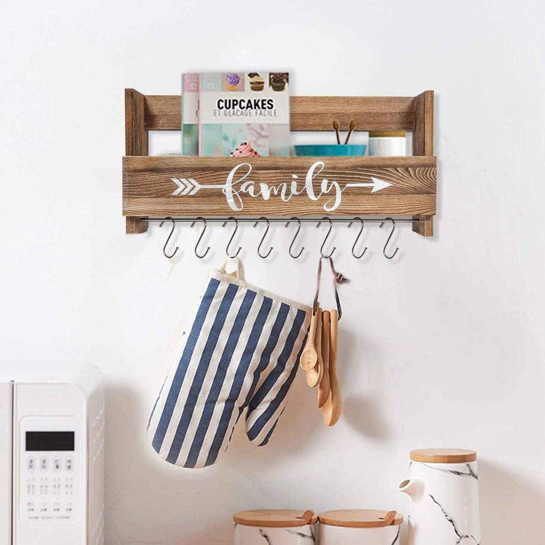 rustic wall storage shelf wooden hanging coffee mug rack with hooks buy wall mounted coffee mug rack wooden mug rack decorative coffee mug rack