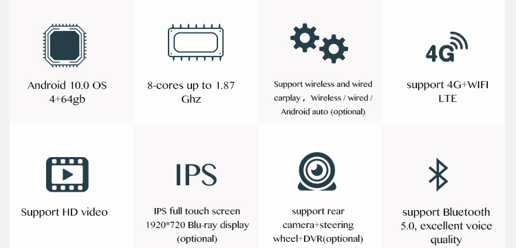 """IOKONE New arrival OEM 10.25"""" Octa Core 4+64gb 2 din touch screen android auto radio car stereo for Audi Q7 2010-2015"""