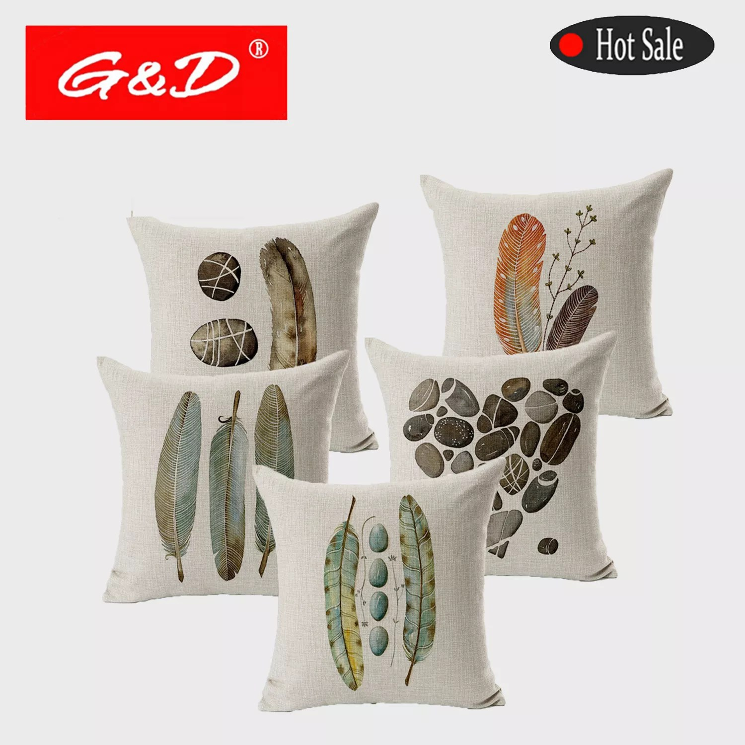 g d 45x45cm hand painted feather design printed pillow cushion cover for bed buy pillow cushion cover custom cushion cover design printed cushion