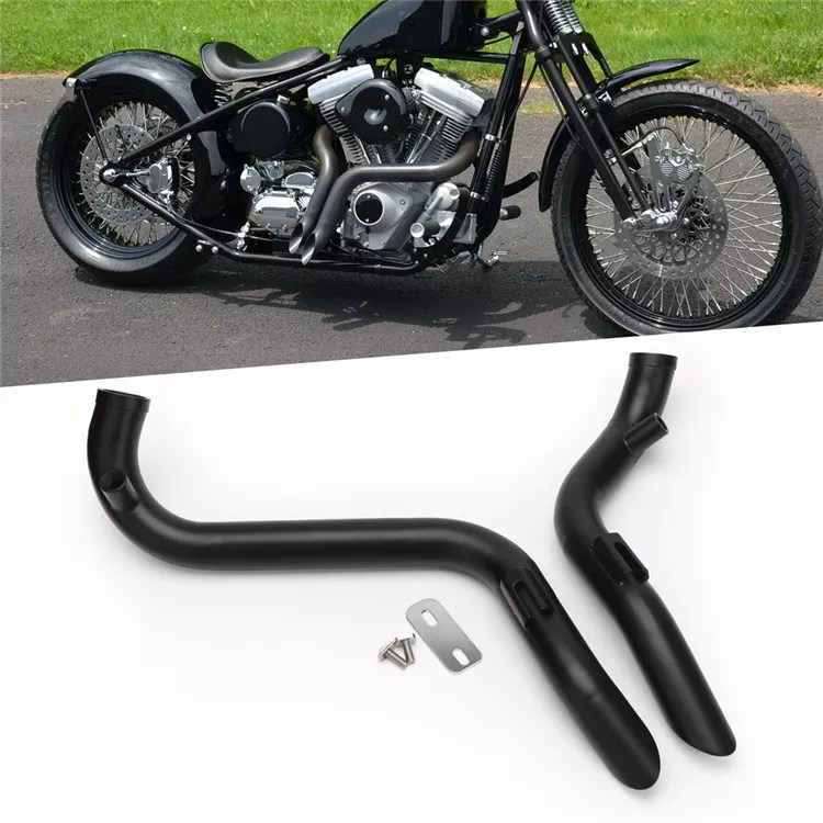 new modified custom stainless steel 2 drag motorcycle exhaust system silencer pipe for harley vintage cruise cafe racer buy motorcycle exhaust