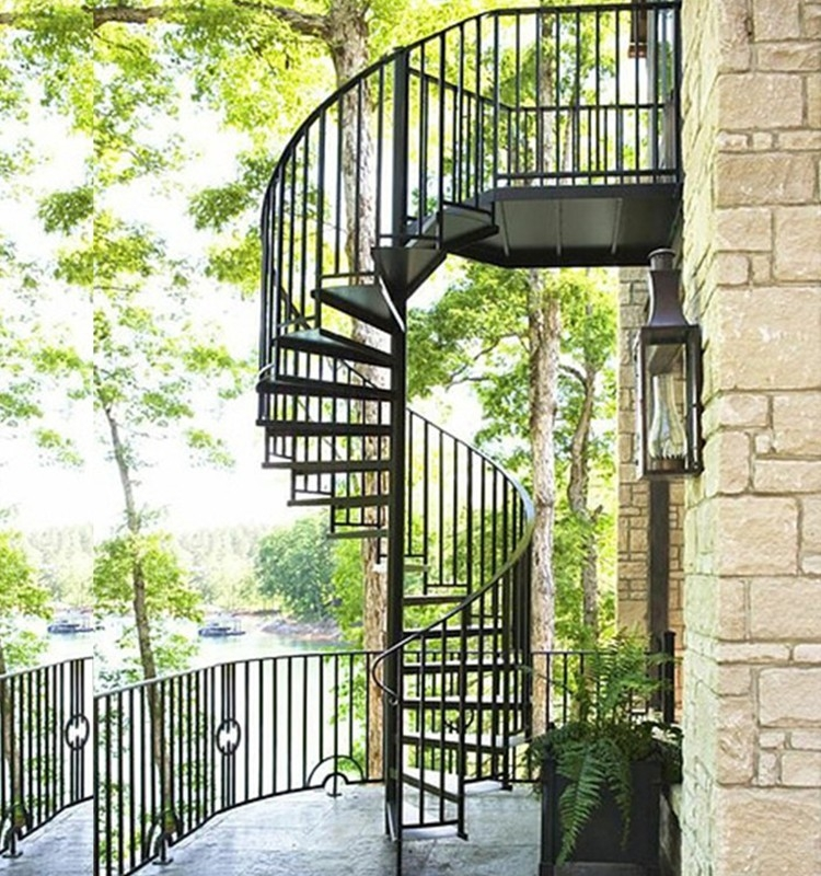 Outdoor Decorative Used Morden Cheap Wrought Iron Low Cost | Outdoor Spiral Staircase Cost