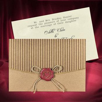 Rustic Wedding Invitation Card Invitations With Kraft Paper Craft