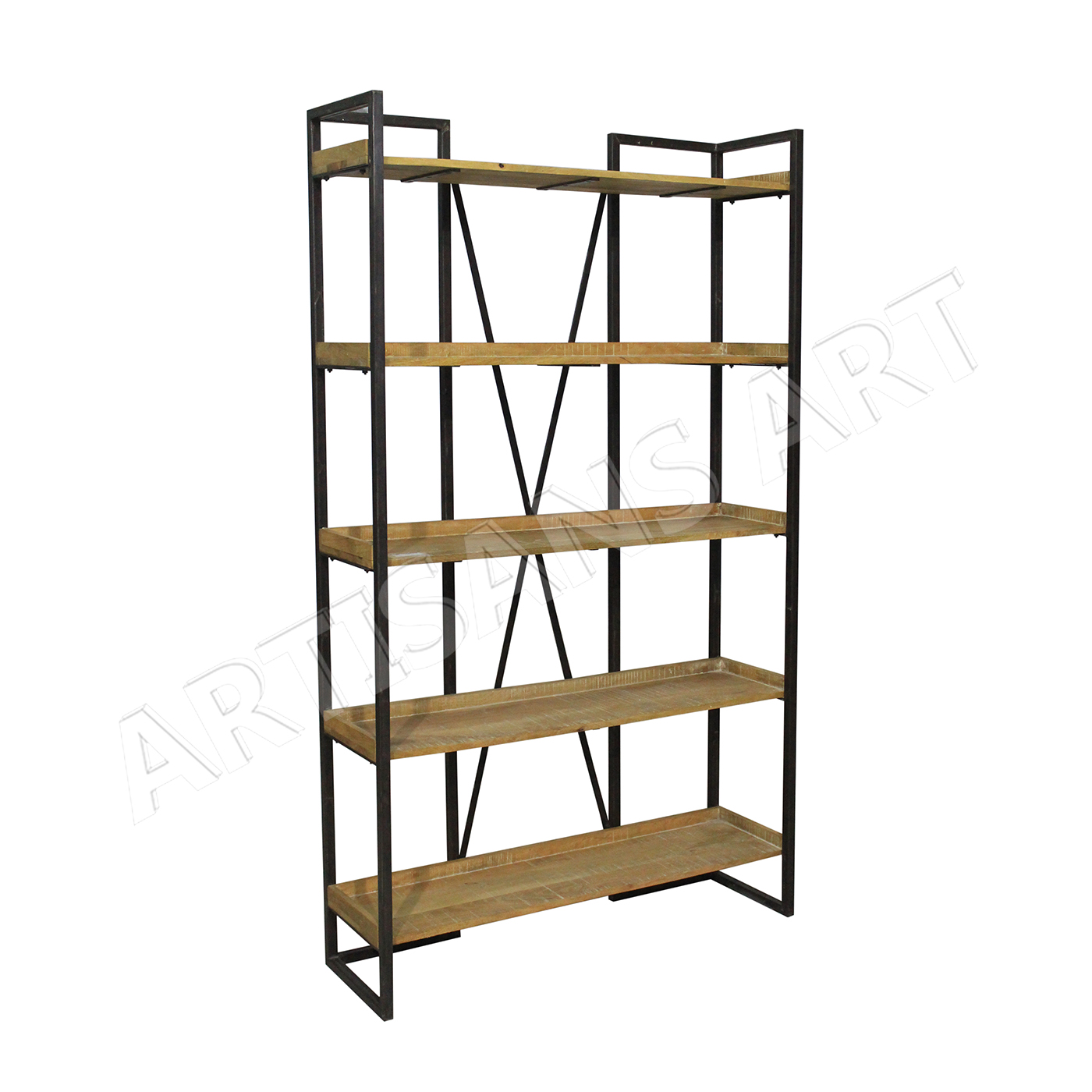 Mid Centuray Rustic Industrial Metal Wood Bookshelf Modern Industrial Fantastic 5 Tier Bookshelf Knock Down Bookshelf Buy Industrial Bookshelf