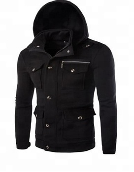 Hoodie - Custom fleece hoodie fashion wear with many pockets