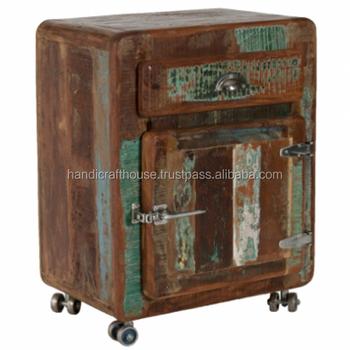 industrial vintage reclaimed wood nightstand bedside table with wheels buy modern mirrored nightstand bedside table adjustable bedside table cheap