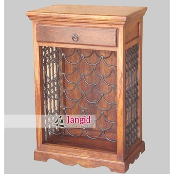 indien moderne en bois de sheesham bois mini bar a vin meubles modele