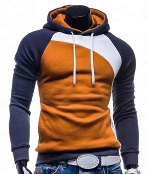 Hoodie - Men fashion fleece contrast hoodie