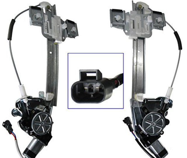 Power Window Regulator With Motor Rear Pair Set For 00 05 Pontiac Bonneville