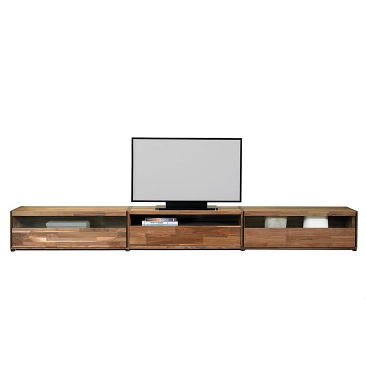 bois meuble de salon design moderne