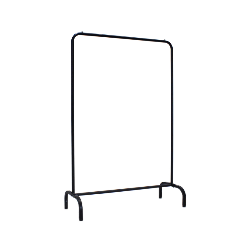 huohua high quality single bar black garment clothes rack stand buy garment clothes rack stand cheap clothes display racks and stands stand clothes