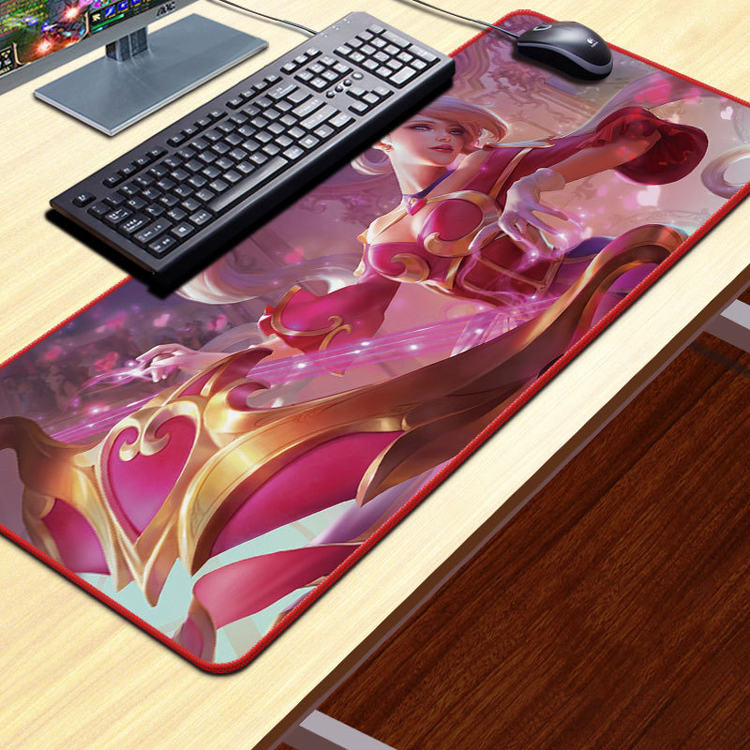 cute league of legends xxl world map sexy girl cartoon photo anime extended large sublimation custom gaming mouse pad buy large customized mouse pad