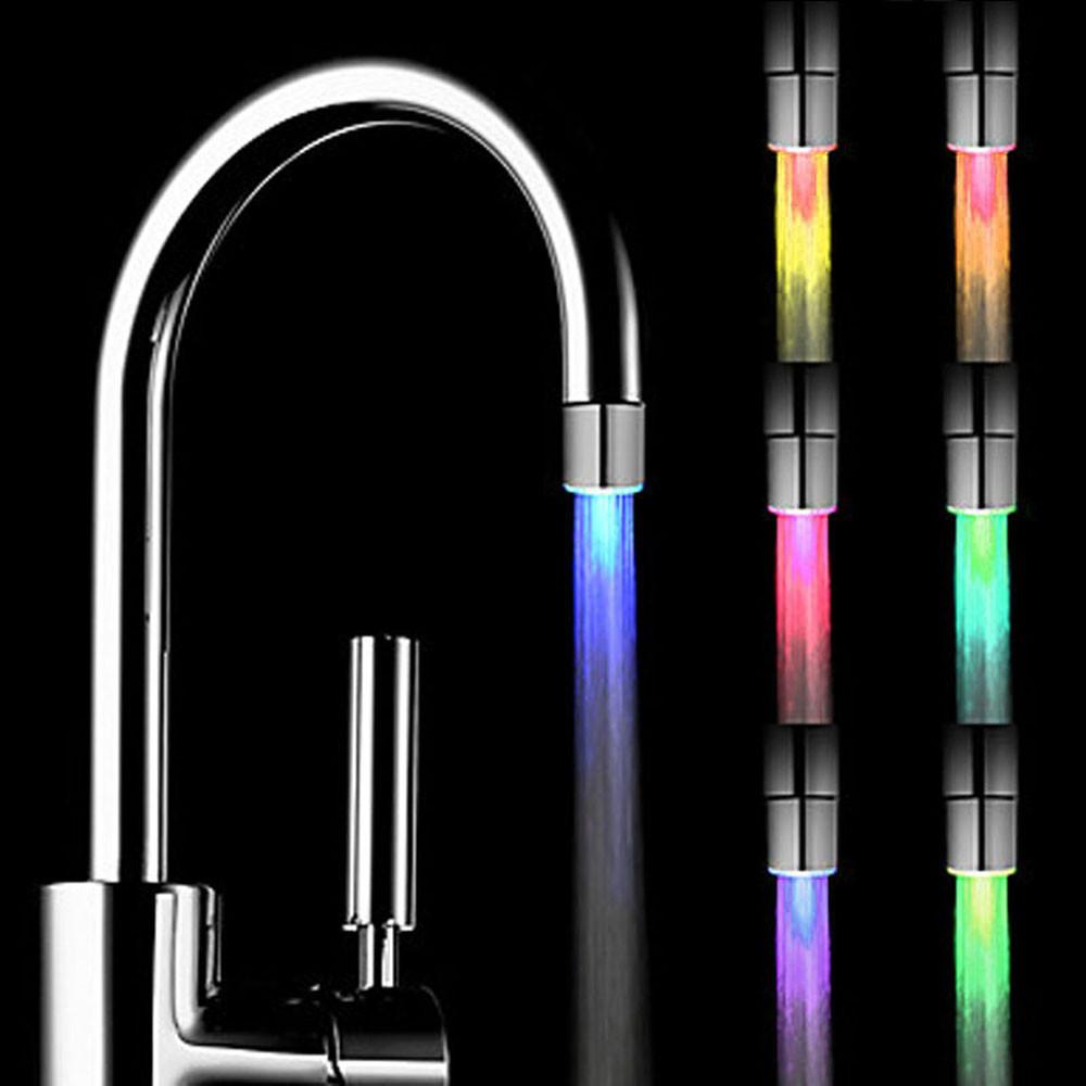 home bedroom led water faucet creative led light shower head water romantic 7 color change bath home bathroom glow lamps buy night lamp sensor